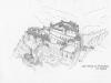 Burg Monschau - reconstructietekening van Wolfgang Braun