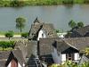 Goed te zien hoe dicht Zur Post bij de Mosel ligt (juli 2011)