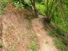 Kletterweg 2011 de start: een zandpad zonder leuning
