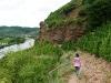 Kletterweg 2011 na 10 min: langs de afgrond met wijndruiven