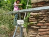 Kletterweg 2011 na 12 min: onder de monorail van het wijnbouwtreintje door