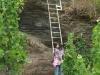 Kletterweg 2011 na 14 min: een primitieve ladder