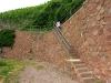 Kletterweg 2011 na 23 min: weer een stenen trap