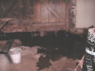 water in de garage (juli 2009)