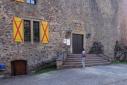 Schloss Oberstein - gesloten deur (okt 2018)