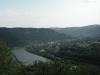 Traben-Trarbach - uitzicht op Traben vanaf Enkirch (juli 2007)