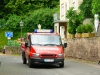 Trachtentreffen - voor en achter rijdt de brandweer (juli 2016)