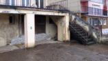 Kröv hoogwater - zandzakken voor de deur (jan 2018)
