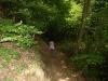 Kletterweg 2011 na 1 u 25 min: een wat breder pad, maar wel steil naar beneden