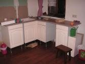 het begint op een keuken te lijken (juli 2009)