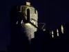 Rheinstein - de Rheinturm in het donker (okt 2017)