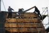 laatste stuk dakbedekking (nov 2012)
