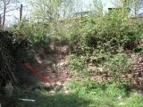 Ingestorte tuinmuur (april 2009)