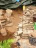 zijkant van de tuintrap (juni 2012)