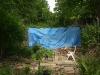 de afgedekte bouwplaats (juli 2011)